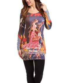 This Black & Pink First-Class Sublimation Tunic is perfect! #zulilyfinds
