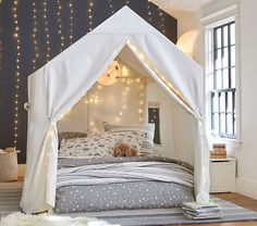 our kids Take blanket forts to the next level with our Camden House Bed. This piece is made from quality materials that last. HOW IT IS CONSTRUCTED House bed is crafted with solid poplar wood Girl Bedroom Designs, Girls Bedroom, Kid Bedrooms, Baby Bedroom, Teenage Bedrooms, Big Girl Rooms, Boy Room, Dream Rooms, Dream Bedroom