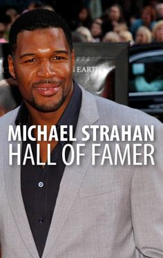Michael Strahan Football Hall of Fame Induction & Super Bowl Bet New York Giants Football, Nfl Football, New York Yankees, Football Players, Nfl Hall Of Fame, Football Hall Of Fame, Michael Strahan, G Man, Professional Football