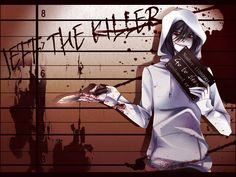 I've never read a creepypasta, and I probably never will, but I really like the anime designs for Jeff the Killer.