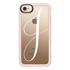 Monogram // J - iPhone 7 Case And Cover (€34) ❤ liked on Polyvore featuring accessories, tech accessories, iphone case, iphone cases, iphone cover case, clear iphone case, apple iphone case and monogram iphone case