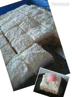 Trošku zdravší kokosový zákusok - recept | Varecha.sk Deserts, Cheese, Food, Essen, Postres, Meals, Dessert, Yemek, Eten