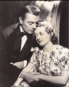 George Brent and Bette Davis - Photo by George Hurrell from Dark Victory (1939)