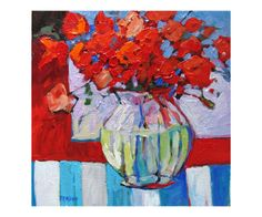 Still Life with Red Flowers..patty baker