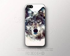 iPhone 5 / 5s / 5c Gray Wolf case, Hard Plastic and soft rubber TPU silicone, Sleeves and wallet case, Galaxy S3, S4