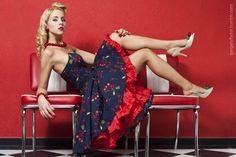 rockabilly cherry dress menyecskeruha