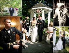 Garden Wedding Venue   We love all our military grooms in uniform - so dashing.  It is our honor to be a part of your big day!
