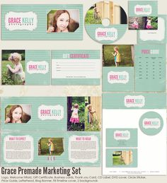 Grace Premade Photography Marketing Set by 7thavenuedesigns, $80.00