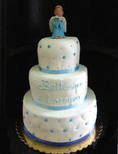 #battesimo angelo blu #modelling  #torta della pasticceria La Mimosa di http://www.simocakedesigner.it
