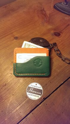 The London wrap wallet is hand crafted by me with genuine Horween Leather. Every…