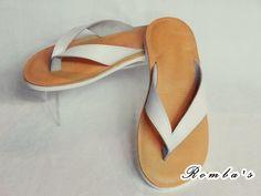 Handmade leather sandal MARS ..... white .....