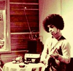 Humble beginnings ●Prince ● Guitar LOVE ● because a piano wouldn't fit