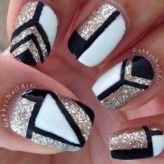 Get Nails, Fancy Nails, Love Nails, Hair And Nails, Fabulous Nails, Gorgeous Nails, Pretty Nails, Black Nail Designs, Cute Nail Designs