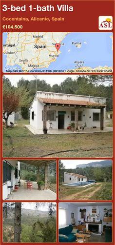 3-bed 1-bath Villa in Cocentaina, Alicante, Spain ►€104,500 #PropertyForSaleInSpain