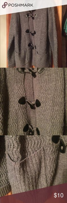 Gray cardigan sweater Nice and warm cardigan sweater with houndstooth buttons. Non smoking home Relativity Sweaters Cardigans
