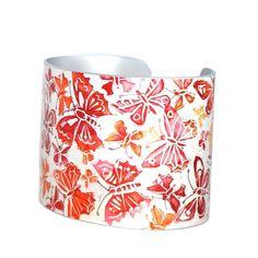 Flutter cuff - red & orange £29.95