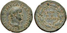 NumisBids: Nomisma Spa Auction 50, Lot 25 : ROMA IMPERO Galba (68-69) Sesterzio – Busto laureato a d. – R/...