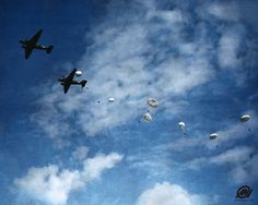 101st airborne practice jump in Holland, WWII