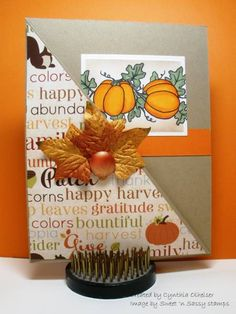 SNSSFFVSD4 - Thanksgiving Leaves by StampinAK - Cards and Paper Crafts at Splitcoaststampers