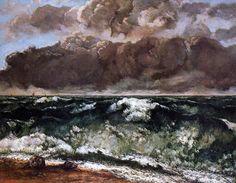 'der welle', öl auf leinwand von Gustave Courbet (1819-1877, France)