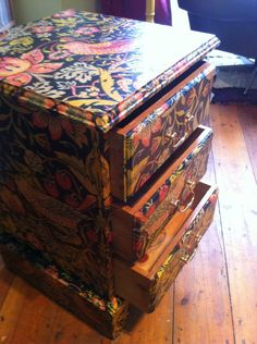 decoupage w/wrapping paper?