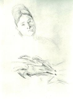 From a page of Studies, Including One of Madame Cézanne Paul Cézanne ca. 1874 Graphite on wove paper 10 7/16 x 7 7/8 in. (26.5 x 20 cm.)