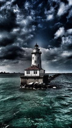 #Lighthouse in The Calm Before... by Richard Cole on 500px - http://dennisharper.lnf.com/