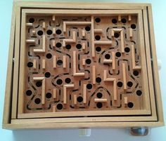 Vintage Wood Wooden Labyrinth Board Game  A favorite of Lisa and I!
