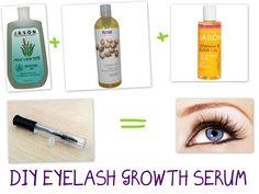 DIY Eyelash Growth Serum. Takes 4-8 weeks but REALLY works wonders!