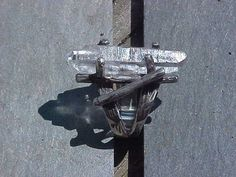 QUARTZ Crystal double terminated set in KAM Custom Sterling Silver Twig Ring on Etsy, $45.00