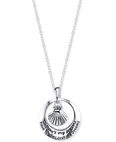 The Little Mermaid Dreams Shell Pendant Necklace in Sterling Silver