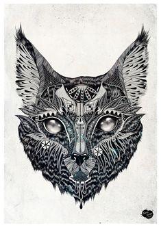 Lynx by Feline Zegers, via Behance