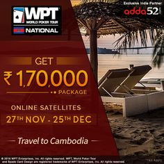 Adda52.com Rolls Out Ticket to WPT® National Cambodia #WorldPokerTour #GaussianNetworks