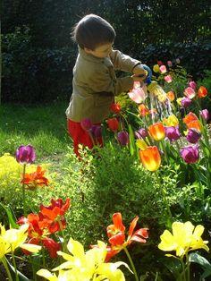 #children #flowers #garden #gardens