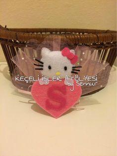 Size ve sevdiklerinize özel tasarımlar... Keçe Bebek Şekeri Hello Kitty