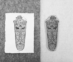 "@tarad.artistry posted on their Instagram profile: ""Positive/negative #linocutprints #linoblock #linocut #linocutprints #pintsofinstagram…"" Positive And Negative, Linocut Prints, Surfboard, Profile, Instagram, User Profile, Skateboarding"