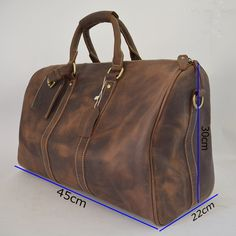 9af52ddb5b0a Crazy horse leather travel bag big leather duffle big travel luggage bag,vintage  travel handbag