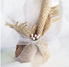 Favor Idea Wedding Favors Burlap and Tulle Wrapped Seed Bombs 50 Eco Friendly Gifts Custom Colors
