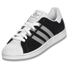 adidas superstar ii toe cap black trainers