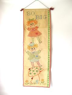 Embroidered Growth Chart by deathmachine on Etsy, $16.00