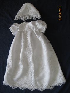 Custom Christening Gown Ensemble from Your Wedding by lindafinley