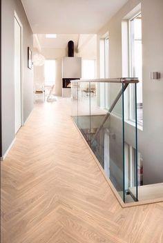 Image 9 of 13 from gallery of Bolig Ekstrand House / Borve Borchsenius Arkitekter. Photograph by Vegard Giskehaug Hallway Flooring, Modern Flooring, Exterior Cladding, Flooring Options, White Houses, Basement Remodeling, Modern House Design, Home Deco, Stairs