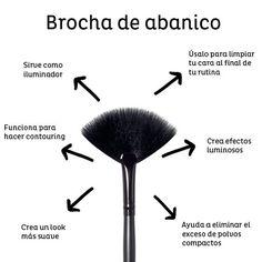 Como utilizar tu brocha de abanico al máximo.  #VoranaTips #Brocha