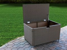 outside storage bins uk remarkable outside storage boxes deck within proportions 900 x 900 auf Small Patio Storage Box Pool Storage Box, Outdoor Storage Boxes, Patio Storage, Storage Containers, Storage Ideas, Patio Furniture Cushions, Outdoor Furniture, Wicker Furniture, Garden Furniture