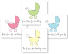 Free printable baby shower favor tags! Thanks for strolling on by!