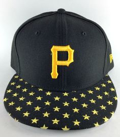 online store f1b57 a8566 Pittsburgh Pirates MLB New Era 59FIFTY Fitted Cap Hat Sidewinger Black Gold    eBay
