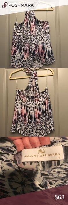 Amanda Uprichard Cascade halter top Women's silk cascade top. Bought from Neiman Marcus. Worn once, but doesn't fit anymore, in perfect condition. Amanda Uprichard Tops Tank Tops
