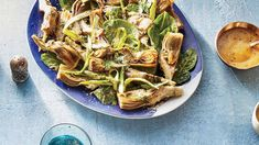 45 Favorite Side Dish Recipes, Like Our Shaved Spring Veggies with Miso-Honey Dressing Side Dishes For Salmon, Best Side Dishes, Side Dish Recipes, Shrimp Side Dish, Marinated Grilled Vegetables, Yucca Fries, Moroccan Carrots, Red Pesto