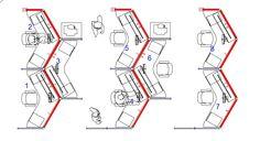 Office space planning - Boomerang plan
