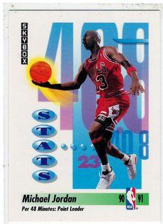 Sports Cards Basketball - 1991 Skybox (Stats) Michael Jordan